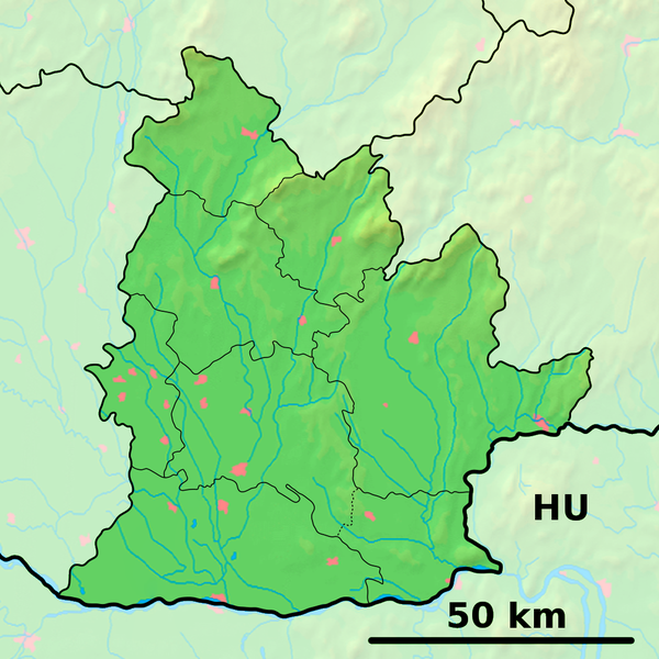 Súbor:Nitra Region - physical map.png
