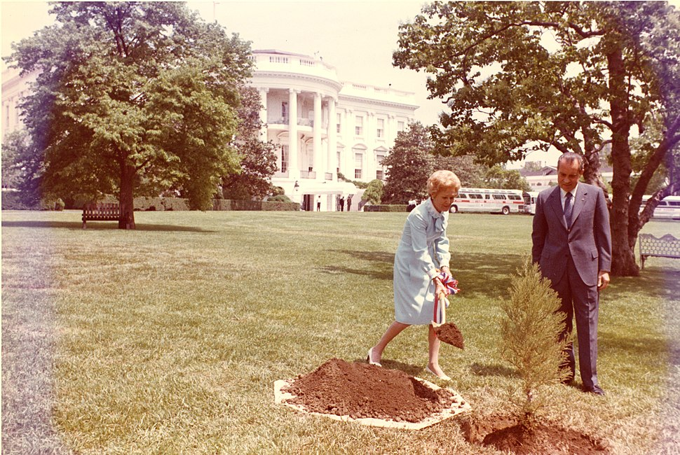 Nixons plant a tree C6311-11a