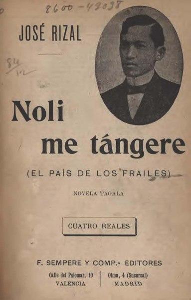 Noli Me Tangere Jose Rizal