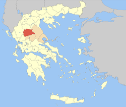 Trikala within Greece