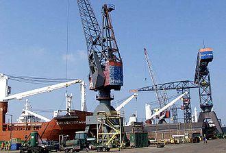 2006 Ivory Coast toxic waste dump - The industrial docks at Amsterdam-Noord, Netherlands.