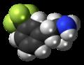 Norfenfluramine molecule spacefill.png