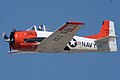 North American T-28B Trojan Navy N63NA Enemy Forces Suppression 2nd Pass 04 TICO 13March2010 (14413083457).jpg