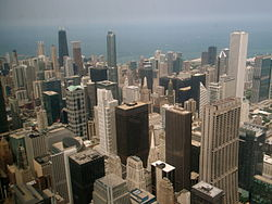 North View from the skydeck of Sears Tower.JPG
