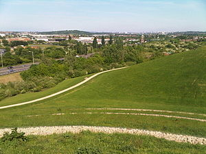 Northala Fields - View from the highest hill in Northala Fields (towards Wembley)
