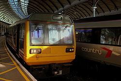 Northern Rail 142095 at Central Station, Newcastle upon Tyne, 7 November 2013.jpg
