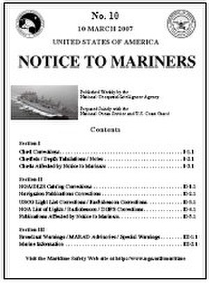 Notice to mariners - Image: Notice to mariners thumb