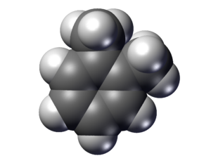 O-Xylene - Image: O xylene space Fill
