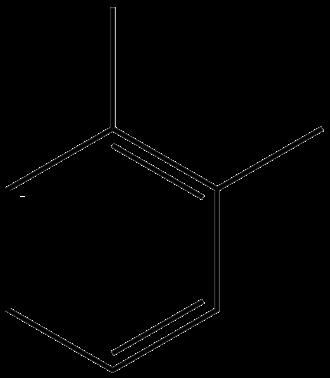 Substitution reaction - Image: O xylene