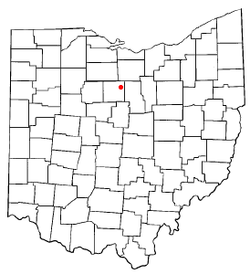 Location of Tiro, Ohio