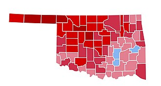 1984 United States presidential election in Oklahoma - Image: OK1984