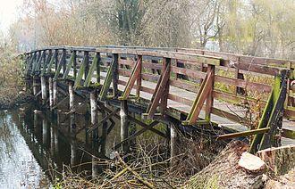 Obra (river) - Bridge on Obra River in Zbaszyn.