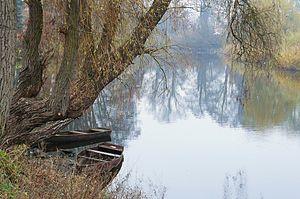 Obra (river) - The Obra River in Zbaszyn.