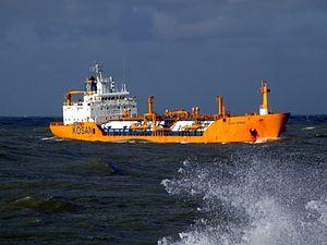 Ocean Primus p2x approaching Port of Rotterdam, Holland 21-Jan-2007.jpg