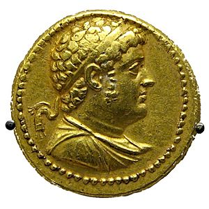 Ptolemy IV Philopator - Gold octadrachm issued by Ptolemy IV Philopator, British Museum