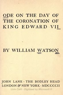 Ode on the day of the coronation of King Edward VII.djvu