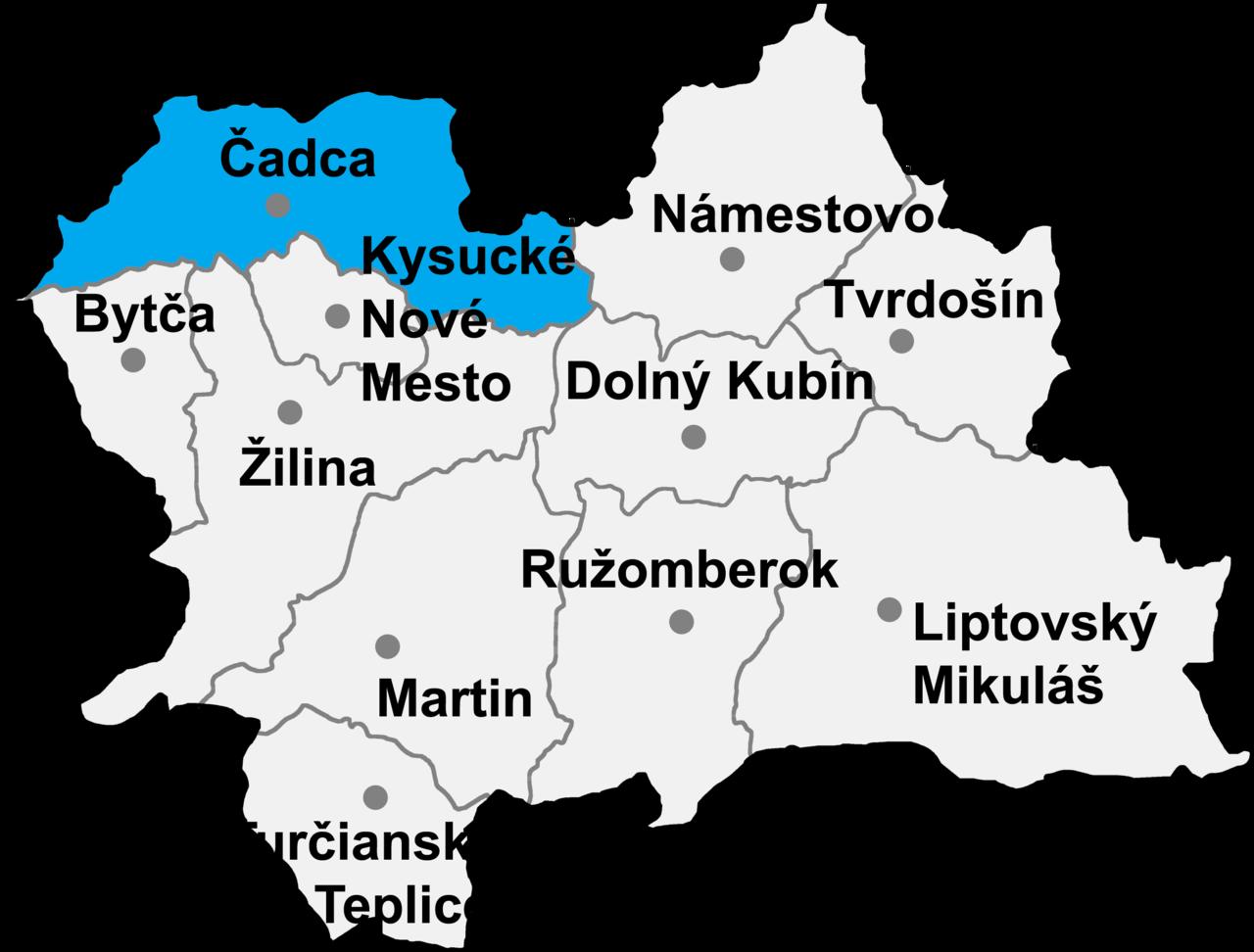 Okres Čadca in der Slowakei