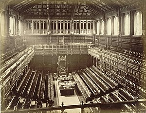 Hemicycle - Image: Old House of Commons chamber, F. G. O. Stuart