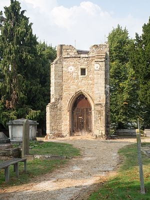 St Margaret's, Lee - Remains of the tower of the former Church Of St. Margaret in the Old Churchyard.