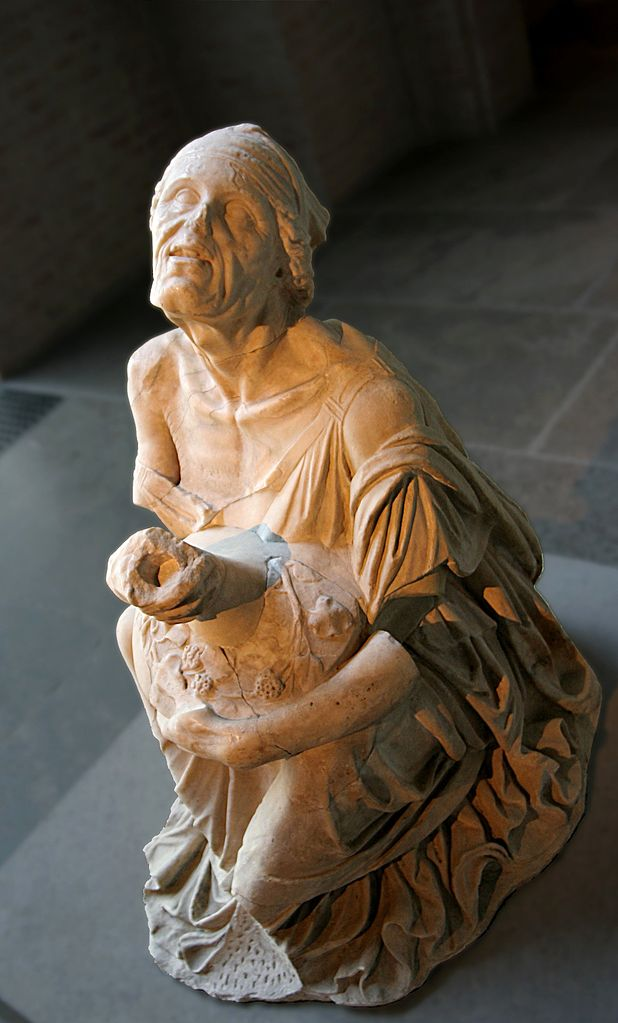 Drunken old woman. Roman marble copy of third- or second-century-B.C. original. Glyptothek, Munich. Photo: Matthia Kabel.