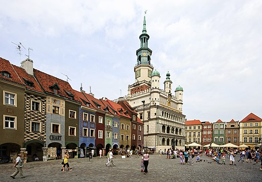 Old marketplace and city hall in Poznań