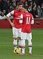 Olivier Giroud x Mesut Özil v Southampton - 23 Nov 2013 (cropped).jpg