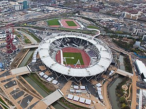 London Stadium - Stadium in 2012, just before the Olympic Games
