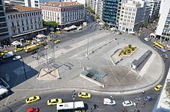 Omonoia Square in the morning, (2011)..JPG