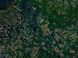 none  Satellittbilete av Onega