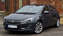 Opel Astra 1.4 EDIT Edition (K) – Frontansicht, 31. Juli 2016, Düsseldorf.jpg