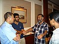 Open Source and Free Software techies meeting up at New Delhi, India, circa 2006.jpg