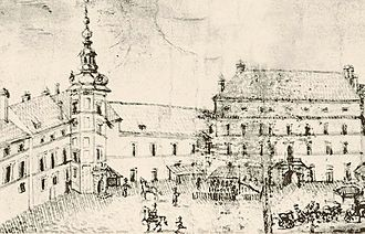 Italian opera - Władysław's Opera Hall Building (right) at the Royal Castle in Warsaw