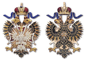 Order of the White Eagle (Russian Empire) - The badge of the Order of the White Eagle, 1863