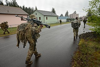 Oregon Army National Guard members participate in training exercise at Joint Base Lewis–McChord in 2018