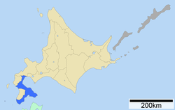 Location of Oshima Subprefecture