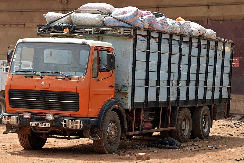 File:Ouagadougou - Mercedes-Benz truck.JPG