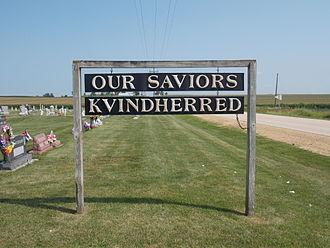 Our Savior's Kvindherred Lutheran Church (Calamus, Iowa) - Cemetery sign