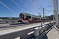 Out of Service Train On the Tilikum Crossing (21935218752).jpg