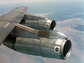 P&W JT3D-3B engines on a RAAF Boeing 707.jpg