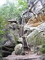 Příhrazské skály, schody.jpg