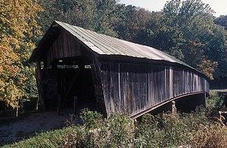 Vinton County, Ohio - Ponn Covered Bridge prior to arson