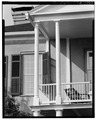 PORTICO DETAIL, SOUTH (FRONT) ELEVATION - Thomas Fuller House, 1211 Bay Street, Beaufort, Beaufort County, SC HABS SC,7-BEAUF,2-11.tif