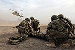 PRT Farah conducts medical evacuation training with Charlie Co., 2-211th Aviation Regiment at Forward Operating Base Farah 130109-N-IE116-388.jpg