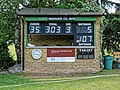 Pacific CC v Chigwell CC at Crouch End, London, England 1 scorebox.jpg