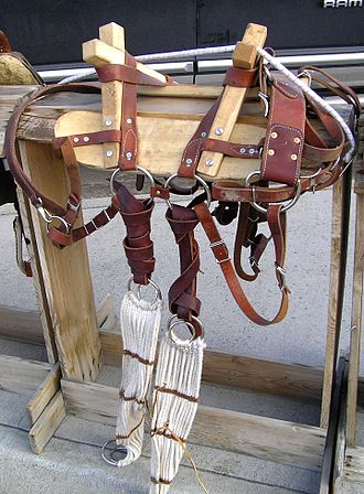 "Pack saddle - A ""sawbuck"" style pack saddle, traditionally used in the western United States"