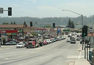 Pajaro, California - Pajaro, viewed from the bridge across the Pajaro River