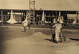 Second Brazilian Republic - Construction of Palácio da Alvorada in Brasilia