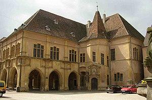 Ensisheim - Palais de la Régence, a grand Renaissance building, now a museum.