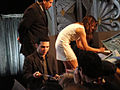 PaleyFest 2011 - Freaks and Geeks-Undeclared Reunion - Samm Levine and Linda Cardellini sign for fans (5525056746).jpg