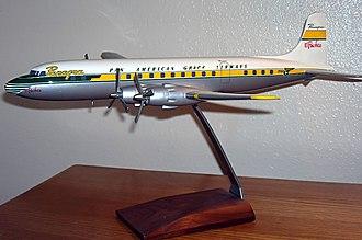 Pan American-Grace Airways - Model of a Panagra's DC-6B